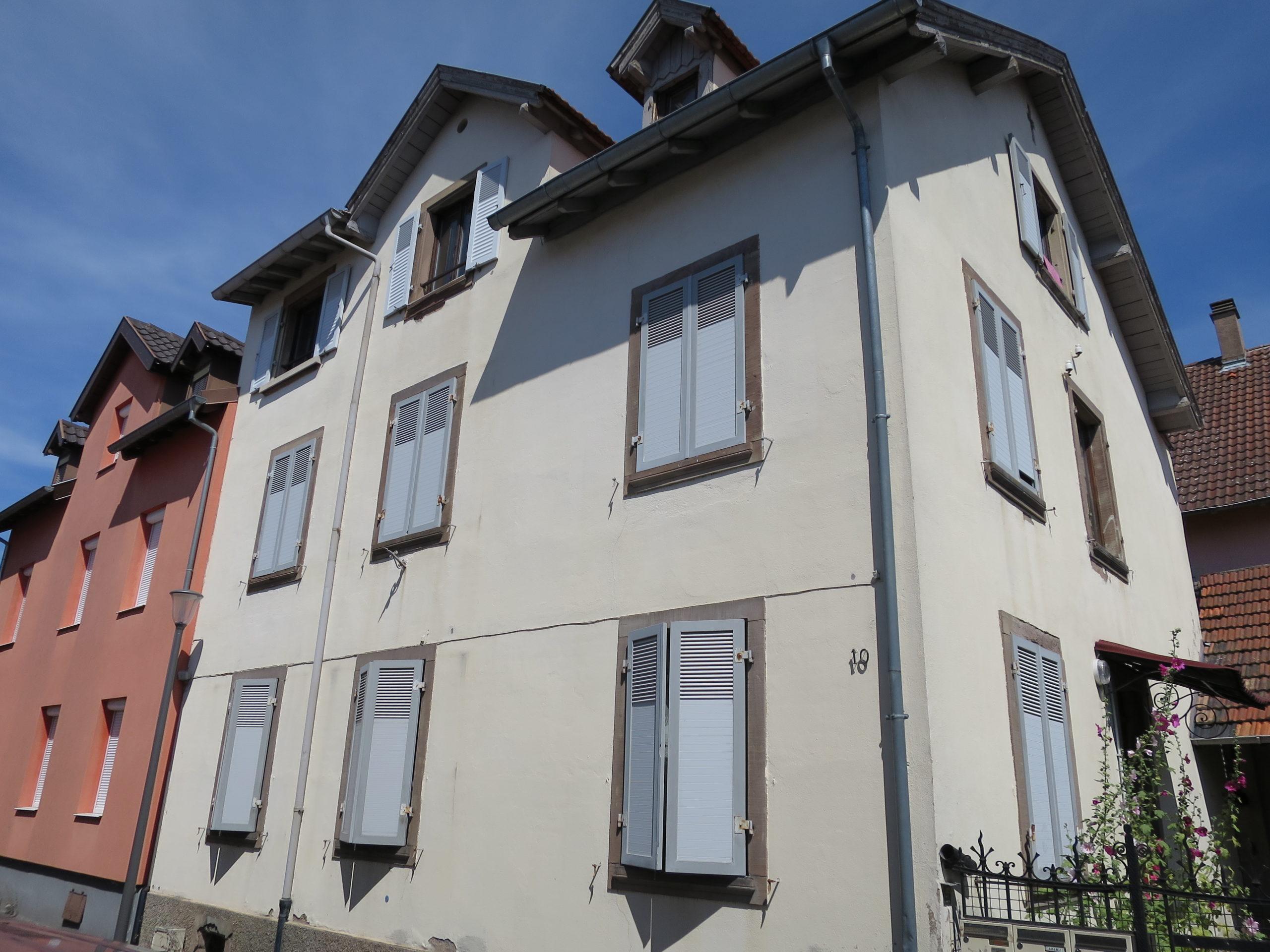 Bischheim Immeuble de 3 appartements sur terrain de 2,19 ares
