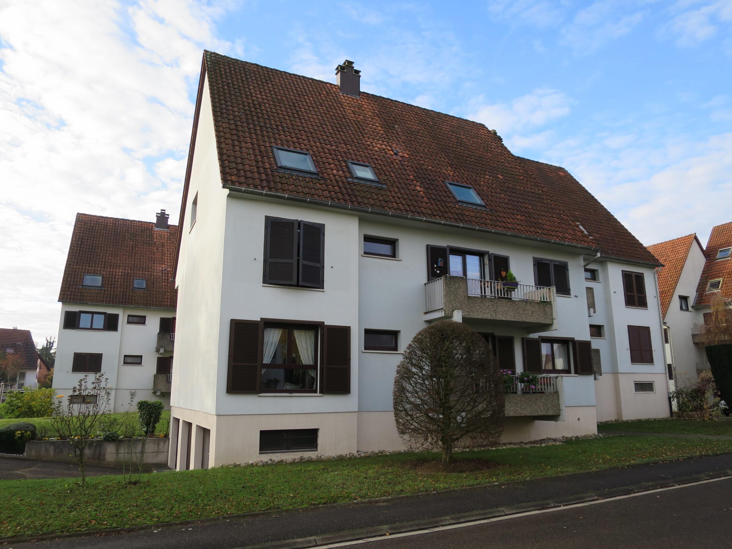 Lampertheim appartement 3 pièces 74 m2 avec terrasse et garage.